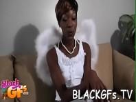 Nackte schwarze Ebenholz-Babes
